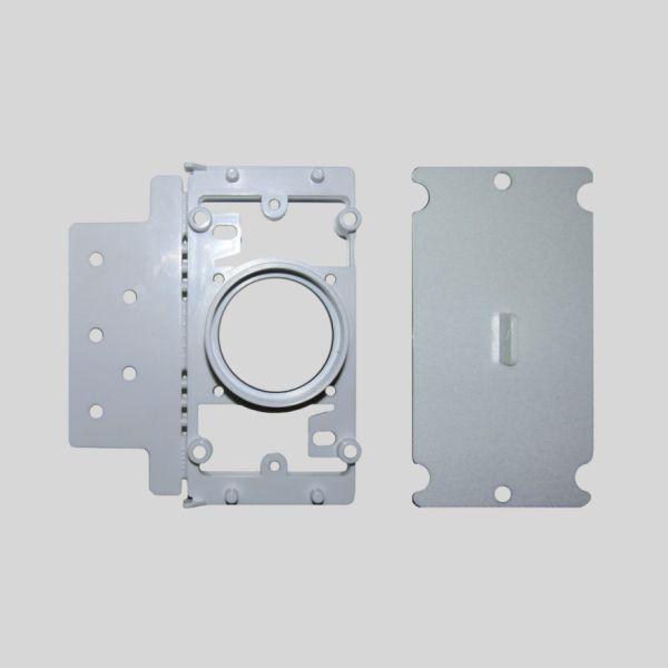 Round Door Rectangular Mounting Plate