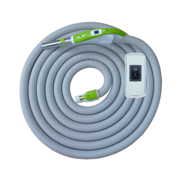 On/Off Hose with Swivel Cuff and Button Switch Handle Green - 15 m