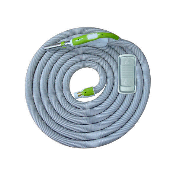 On/Off Hose with Swivel Cuff and Slide Switch Handle Green- 10 m