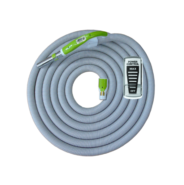 On/Off Hose with Swivel Cuff and Power Control Switch Handle Green - 10 m